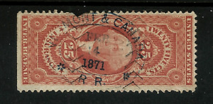 US #R46  [1st Issue ~ Post-CW Era] w/Commercial Handstamp [MONT&CANADA RR -1871]