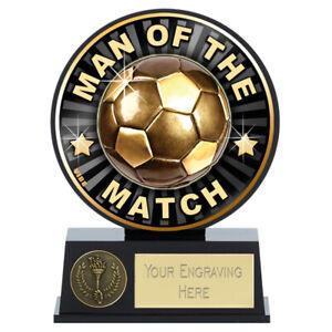VIBE Football Team Man of the Match Award 12cm FREE ENGRAVING & P&P