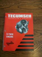 Tecumseh V-Twin Engine Technician's Handbook 696325 Repair Manual 2000