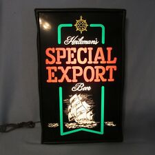 SPECIAL EXPORT BEER SIGN Sailing Ship NEO NEON Collector Vintage 1980'S