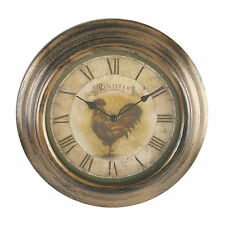 ROOSTER CHICKEN KITCHEN  WALL CLOCK  BROWN BRAND NEW