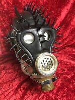 Extravagant Schwarz Stachel Maske Dominant Kerker Gasmaske Devot Sklave Gay SM