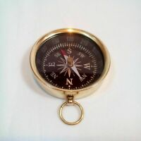 NAUTICAL MARITIME VINTAGE STYLE BRASS POCKET COMPASS KEY CHAIN COLLETIBLE GIFT