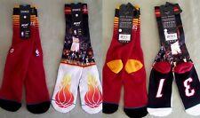 Stance $34 Socks NBA Basketball 2 Pair MIAMI HEAT Wade-Bosch Arena Core Crew L