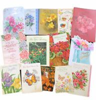Mixed Lot of 14 Greeting Card Vintage Floral Crafting Scrapbooking Used Writing