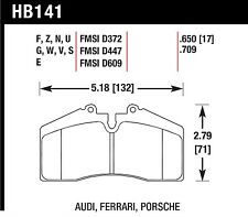 Hawk Performance HB141U.650 Unbeatable Pad And Rotor Wear Disc Brake Pads