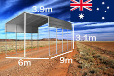 STEEL 6x9M Double Carport Kit Backyard Shelter DIY Shed Garage Portable Pergola