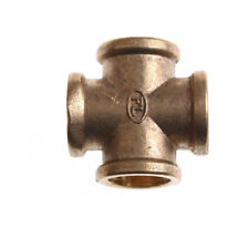 """1/2"""" BSP Female Thread 4Way Brass Cross Pipe Fitting Adapter Coupler ConnectorLX"""