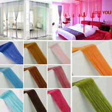 String Door Tassel Curtain Room Divider Window Blind Fringe Net Panel Fly Screen