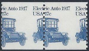"""1906 - Misperf Error / EFO Pair 17c """"Electric Auto"""" Mint NH (Stk10)"""