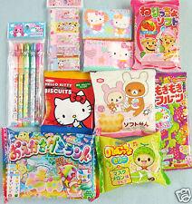 Japan Kawaii Gift 10 PCS Set Candy Stationery Hello Kitty Rilakkuma Kracie New