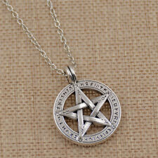 Antique Supernatural Pentagram Pendant Necklace Pentagram Jewelry Charm Silver