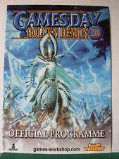 Warhammer 40k Fantasía gamesday 2010 programa Rare fuera de imprenta