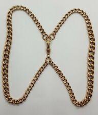 UNUSUAL 9CT GOLD CURB CHAIN BRACELET