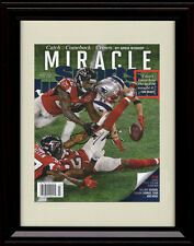Framed Julian Edelman Sports Illustrated Auto Print The Catch Patriots SB 51 LI