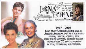 18-025, 2018, Lena Horne, Pictorial Postmark, FDC, Black Heritage