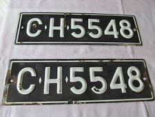 VINTAGE EXPIRED ENAMELED BULGARIAN CAR LICENSE PLATE REGISTRATION NUMBER FOR CAR