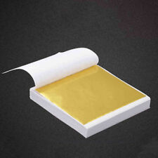 100X 24K Gold Leaf Sheets. For Art Crafts Design Gilding Framing Scrap