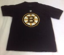 Men's NHL Boston Bruins Shirt Sz S Reebok Patrice Bergeron Hockey Black T-Shirt