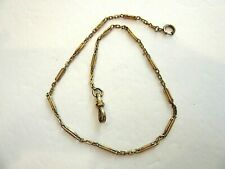 """Simmons Pocket Watch Chain Antique 14"""" Gold Filled"""