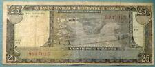 EL SALVADOR 25 COLONES NOTE ISSUED 29.09. 1983, P 136