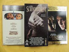 3 Best Picture Winner VHS: Driving Miss Daisy, Schindler's List, Beautiful Mind