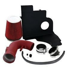 For 11-14 Ford Mustang 5.0L V8 Air Intake System Red Heat Shield with Filter