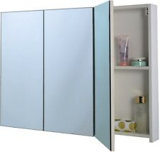 Bathroom Medicine Cabinet Shelves Space Saver Bath Storage 36? with 3 Mirrors