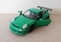 Porsche 911 GT3 RS Green Die Cast Scale 1:38 Model Car NEW