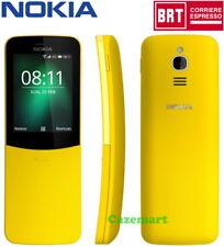 Nokia 8110 4G 2018 LTE Dual SIM Cellulare Sbloccato Curvo Scorrere Giallo