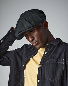 Melton Wool Baker Boy Cap Flat Peaky  Newsboy Hat