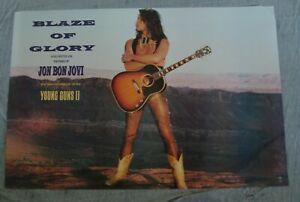 JON BON JOVI Album poster BLAZE OF GLORY Young Guns 2 original store promo