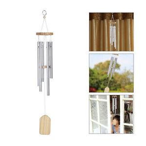 6pcs Bells Wind Chimes Metal Windchime Outdoor Garden Home Hanging Ornaments