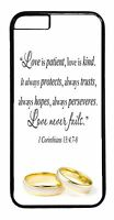 For iPhone 6 6s Plus 5 5s 5c 4s Case Cover Wedding Bride Love Quote Cute Gift