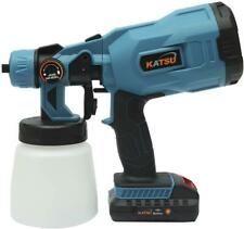 KATSU Cordless Paint Spray Gun 1 Battery 2AH EU Plug