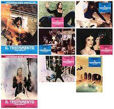 IL TESTAMENTO FOTOBUSTE 6+2 SOGG. THRILLER 1978 EL LEGADO DEL DIABLO LOBBY CARD