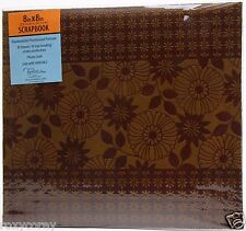 Tapestry Gibson 8x8 Brown Flower Scrapbook 10 Sheets Protectors NWT