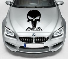 LARGE Punisher Skull Car Bonnet Car Vinyl Graphic Sticker Van Panel Decal 51
