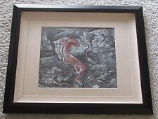 ANDRE DELFAU PAINTING 1940'S SURREALISM ABSTRACT NUDE MODERNISM FRENCH ANTIQUE