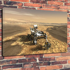 "Mars 2020 Rover Space Planets Printed Box Canvas Picture A130""x20""30mm Frame"