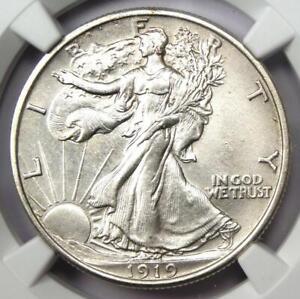 1919 Walking Liberty Half Dollar 50C (1919-P) - NGC Uncirculated Detail (UNC MS)