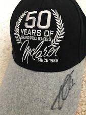 FERNANDO ALONSO signed CAP 50 YEARS McLaren F1 GP gray curved BRIM NEW ERA Hat