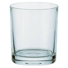 More details for 6 plain 24% lead crystal glass whisky tumblers 35cl fine quality czech made new