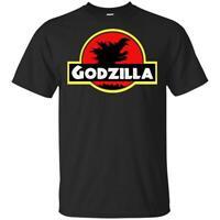 Godzilla T-Shirt Black, Navy Men's Godzilla Jpanese Tee Shirt Short Sleeve S-5XL