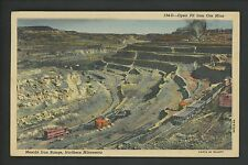 Industry Mining Iron Ore postcard Mesabi Iron Range Minnesota linen Curt Teich