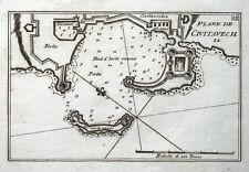 CIVITAVECCHIA, ITALY HARBOUR PLAN,  Roux Original antique map c1760