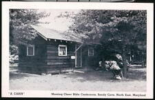 NORTH EAST MD Sandy Cove Morning Cheer Bible Conference Cabin Vtg Postcard Old