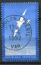 FRANCE TIMBRE OBL N° 2734 OISEAUX AUX AILES BRISES DE FOLON TIGNES