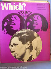 VINTAGE WHICH CONSUMER MAGAZINE JANUARY 1968 STEREO COLOUR TV HEARING AIDS