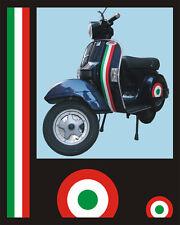 Adesivi tricolore Piaggio Vespa e casco - adesivi/adhesives/stickers/decal